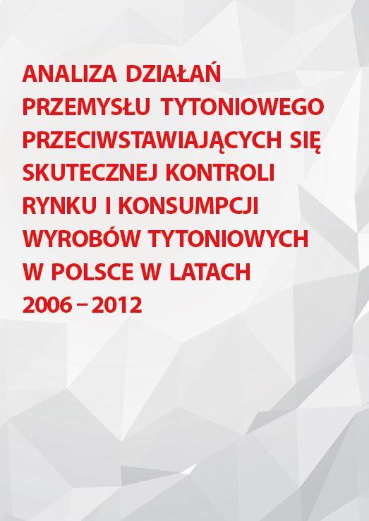 Analiza dzialan przemyslu tytoniowego 2006 2012